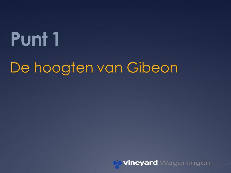 Punt 1 De hoogten van Gibeon