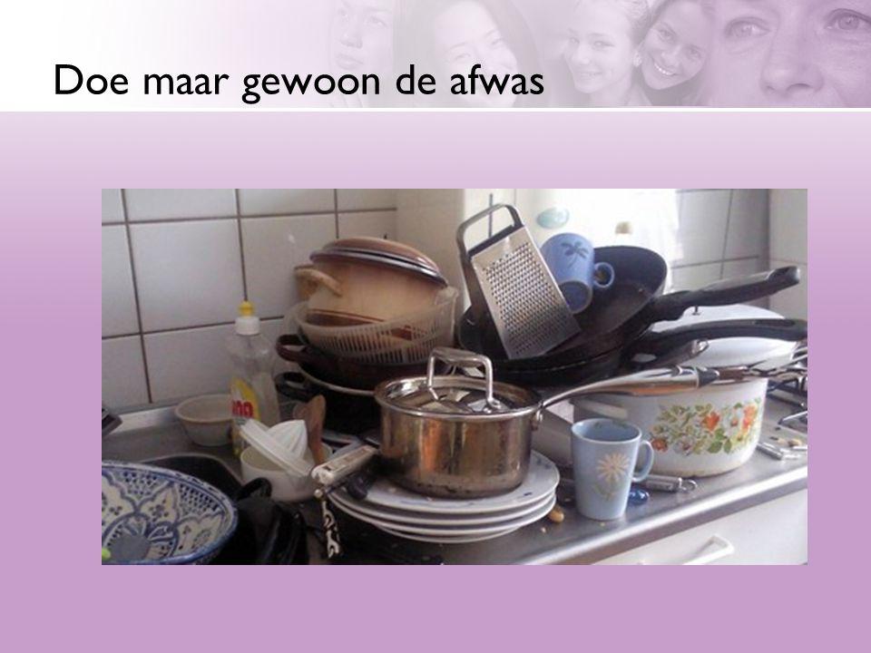 Doe maar gewoon de afwas