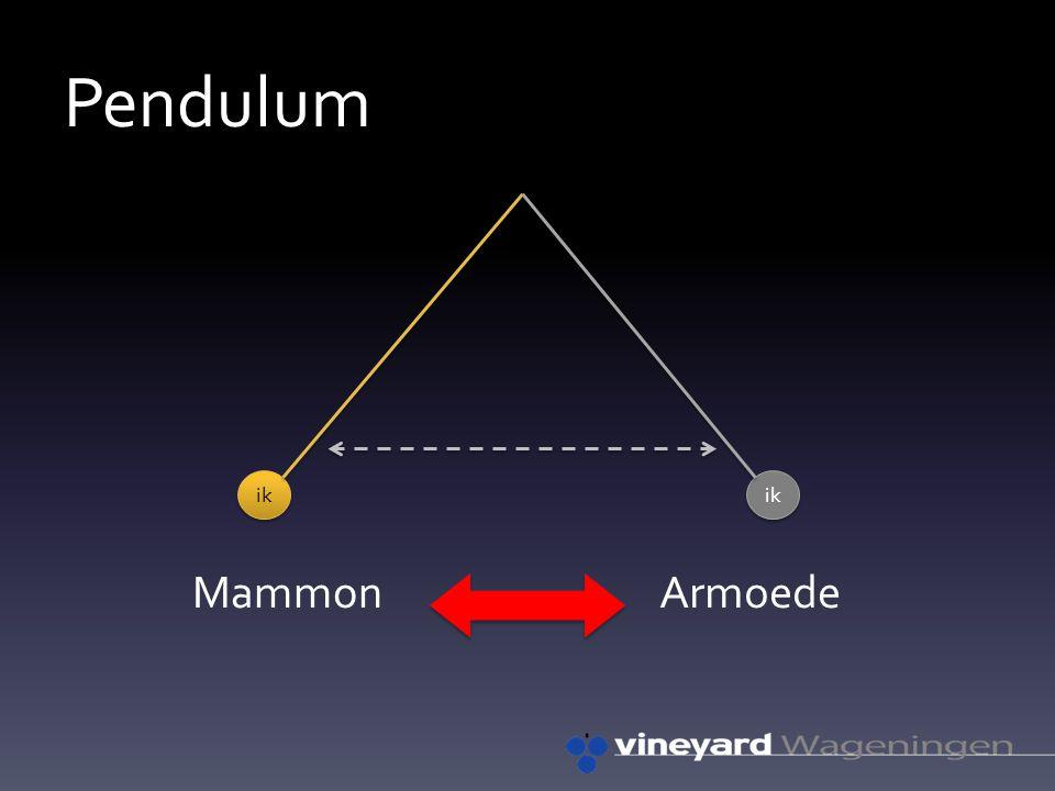 Pendulum MammonArmoede ik