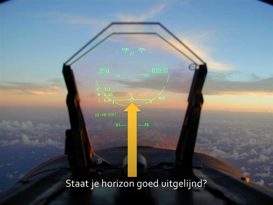 Staat je horizon goed uitgelijnd?