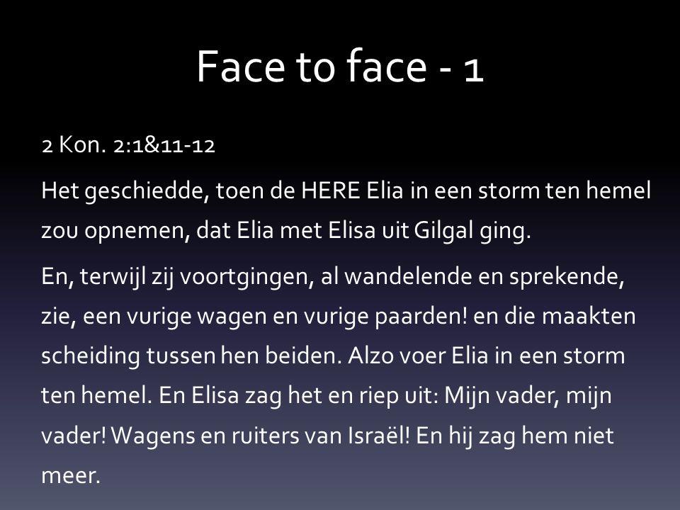 Face t0 face - 1 2 Kon.
