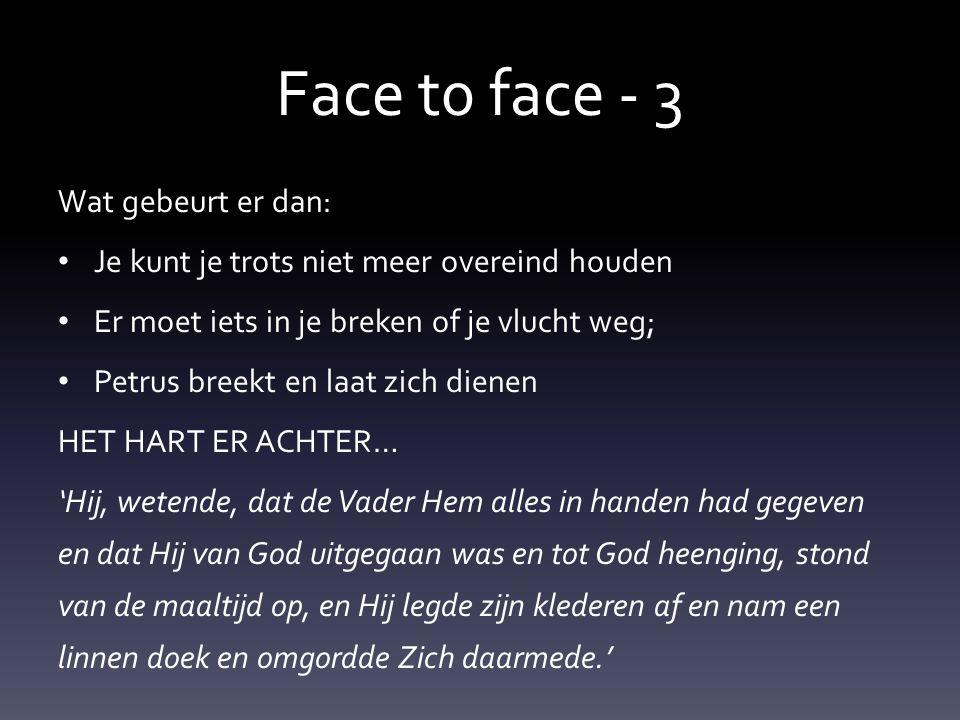 Face t0 face - 3 Hoe kom je dan tot navolging van Jezus.