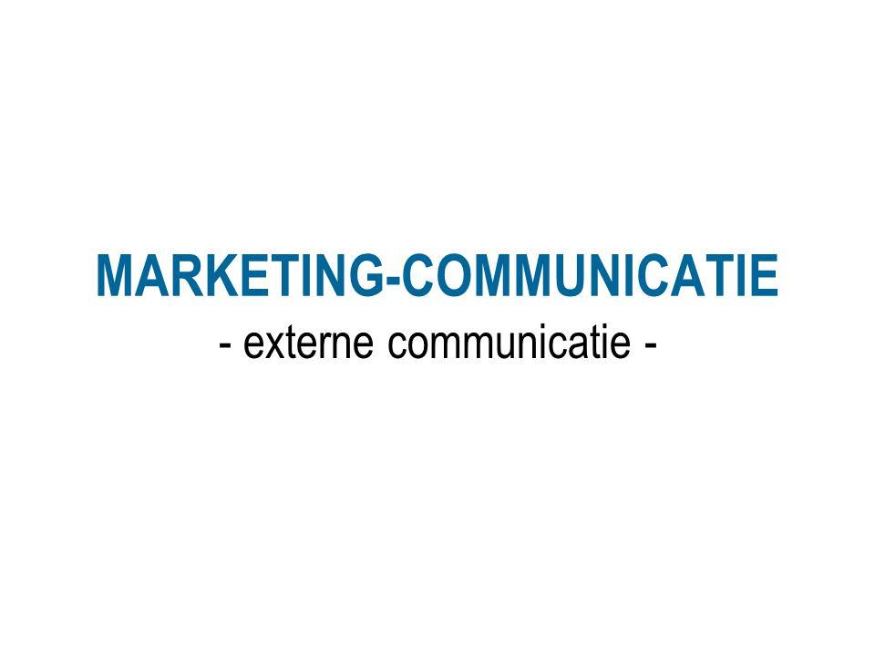 MARKETING-COMMUNICATIE - externe communicatie -