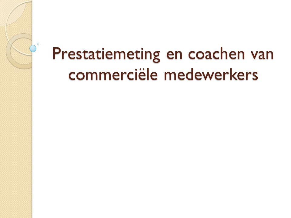 Prestatiemeting en coachen van commerciële medewerkers