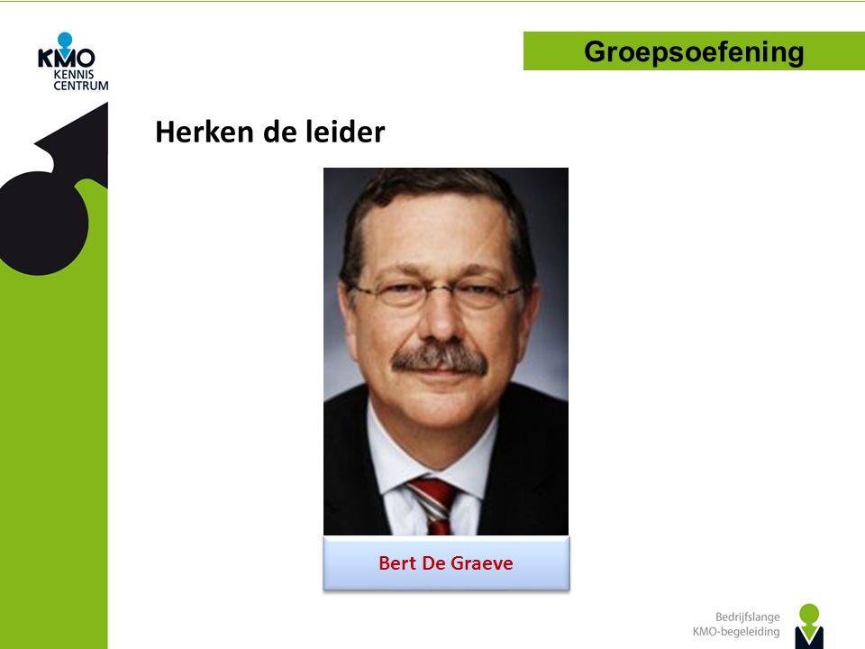 Herken de leider Groepsoefening Bert De Graeve