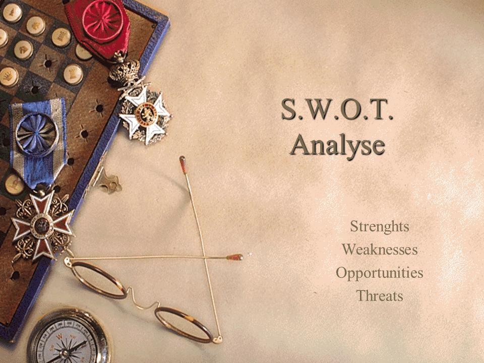 Kansen & Bedreigingen Waar liggen de kansen van uw bedrijf .