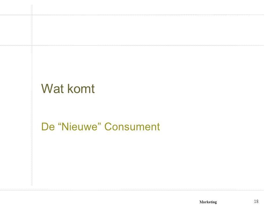 """18 Wat komt De """"Nieuwe"""" Consument"""