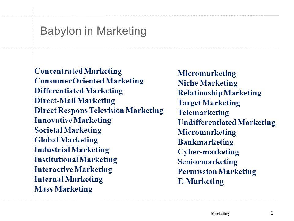 Marketing 23 Wat komt Een Nieuwe visie op Marketing