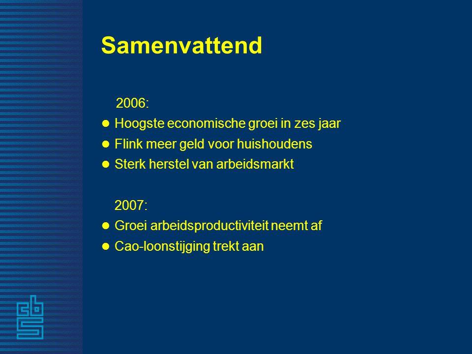 De Nederlandse economie 2006 Michiel Vergeer