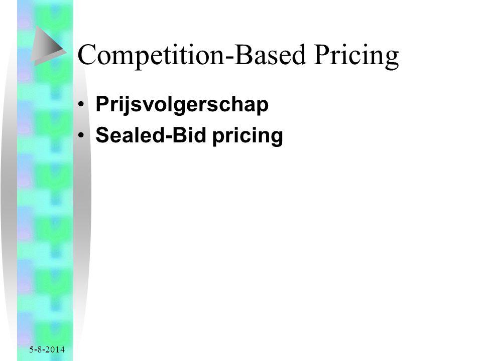 5-8-2014 Competition-Based Pricing Prijsvolgerschap Sealed-Bid pricing