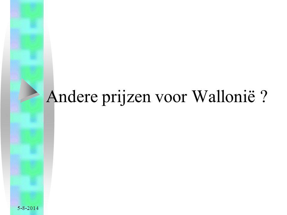 5-8-2014 Andere prijzen voor Wallonië ?