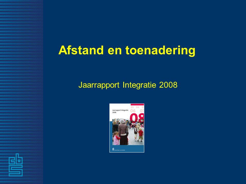 Afstand en toenadering Jaarrapport Integratie 2008