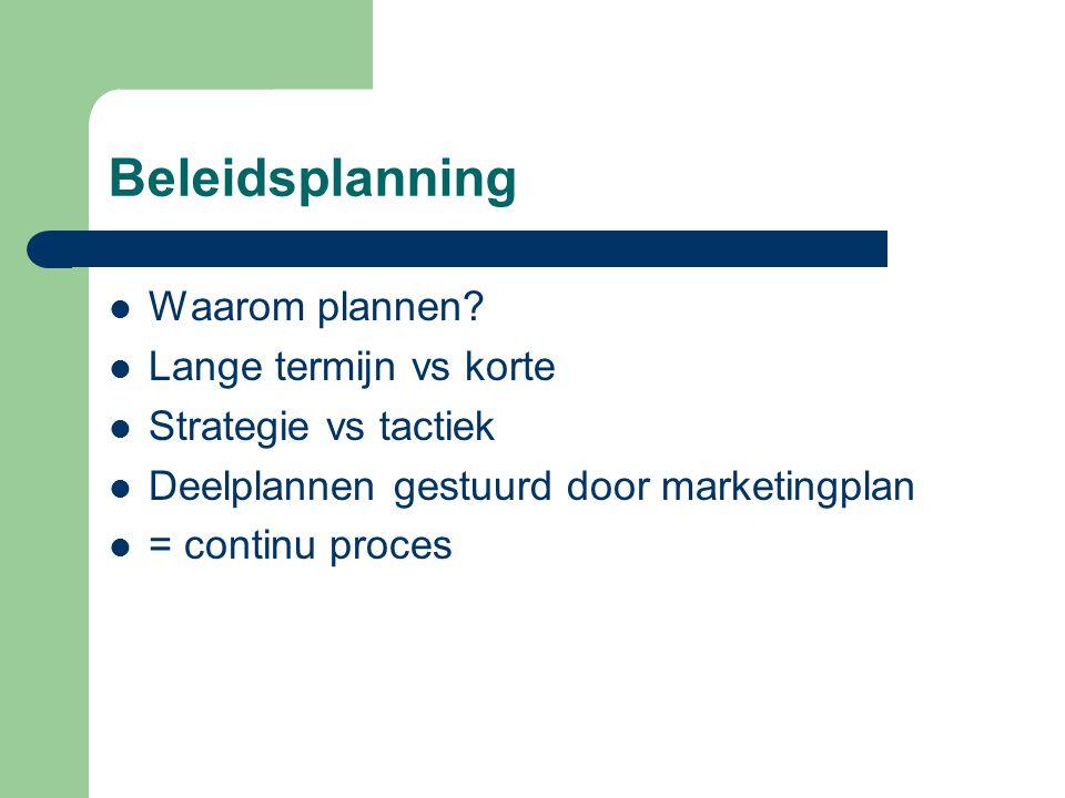 Beleidstappenplan 1.Visie :waar wil je naar toe?