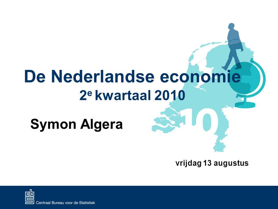 De Nederlandse economie 2e kwartaal 2010 12 Werkloosheid en vacatures