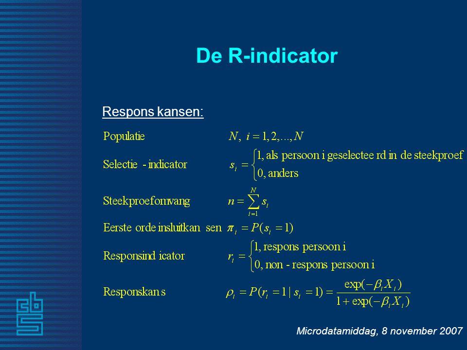 Microdatamiddag, 8 november 2007 Respons kansen: De R-indicator