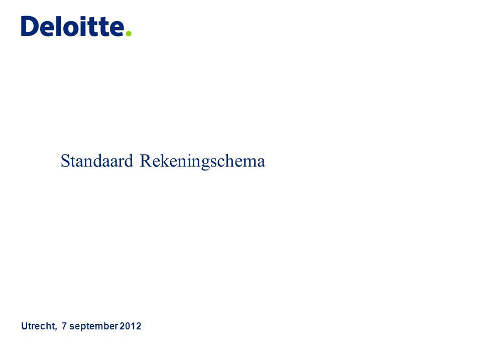 Standaard Rekeningschema Utrecht, 7 september 2012