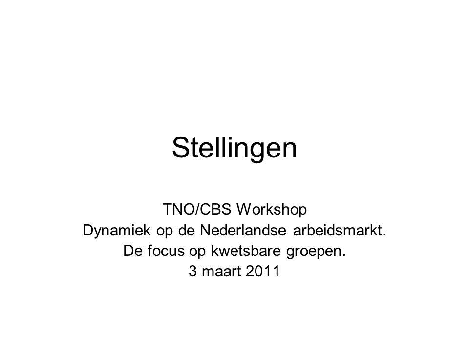 Stellingen TNO/CBS Workshop Dynamiek op de Nederlandse arbeidsmarkt.