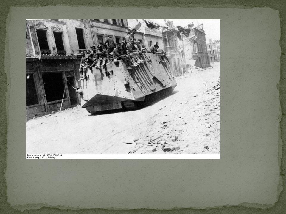 Door betere tank van de VS winnen ze de loopgravenoorlog. 11 November 1918: einde WO I. Duitsland heeft verloren