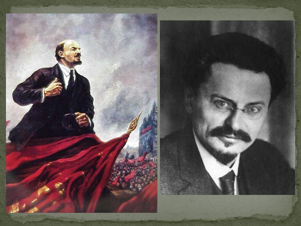 Volk was nog steeds niet tevreden: Nog steeds armoede, nog steeds was WO I bezig. Lenin zei: stoppen met de oorlog. Steeds meer mensen geloofden Lenin