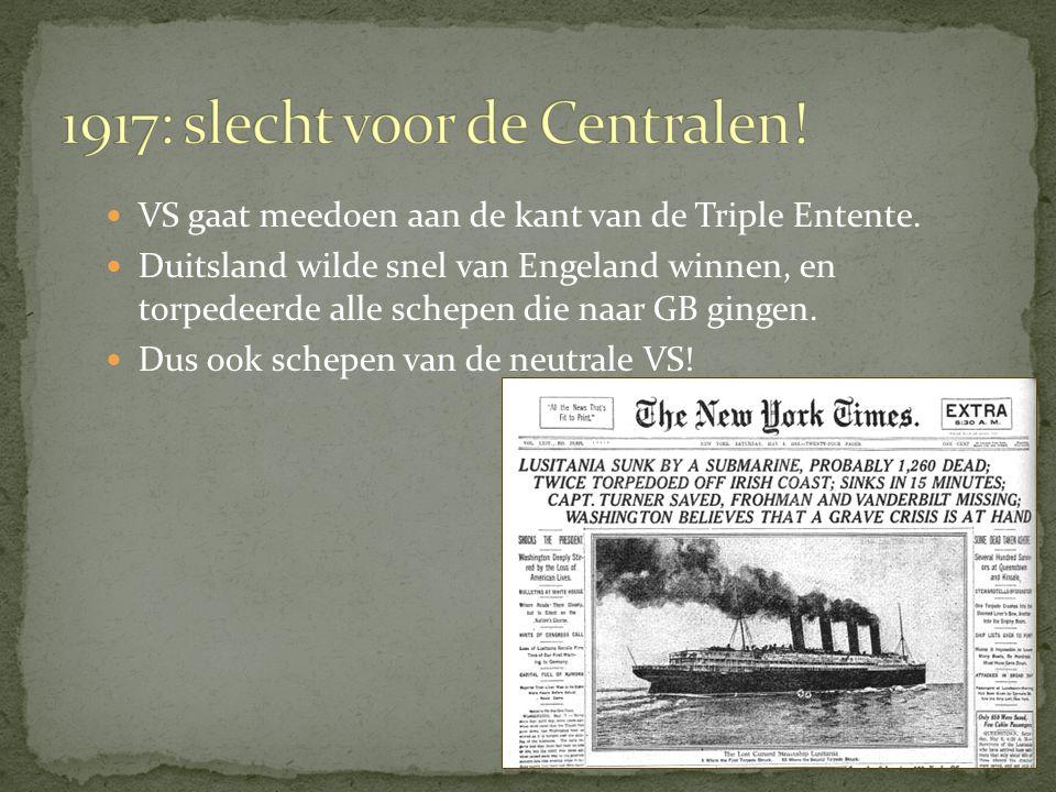 Engeland en Frankrijk waren boos vanwege de getekende vrede met Duitsland.
