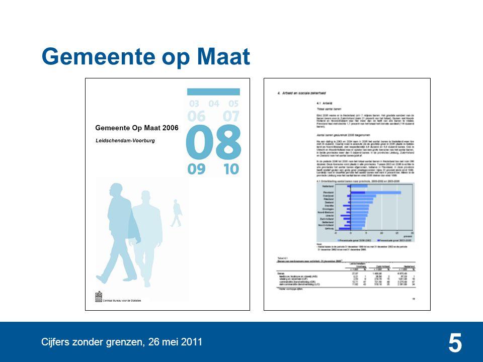 Cijfers zonder grenzen, 26 mei 2011 5 Gemeente op Maat