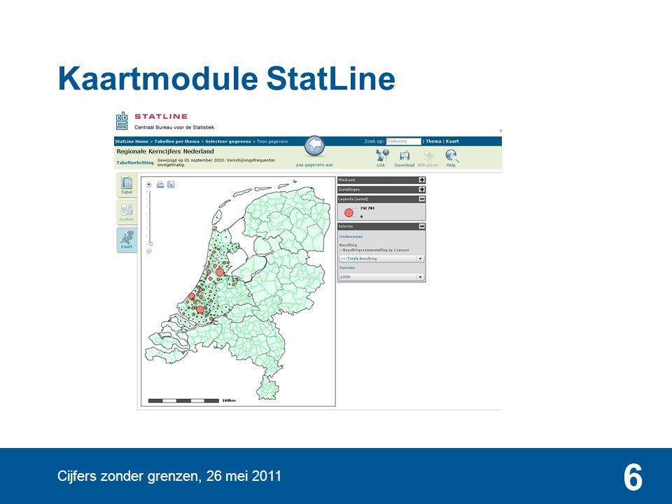 Cijfers zonder grenzen, 26 mei 2011 6 Kaartmodule StatLine