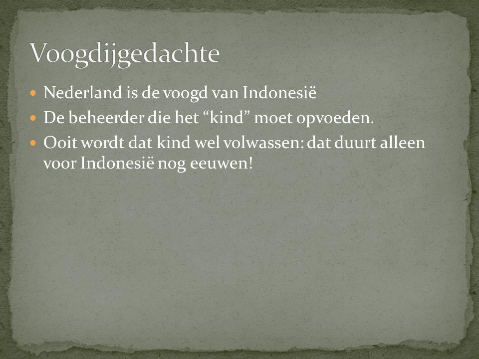 """Nederland is de voogd van Indonesië De beheerder die het """"kind"""" moet opvoeden. Ooit wordt dat kind wel volwassen: dat duurt alleen voor Indonesië nog"""