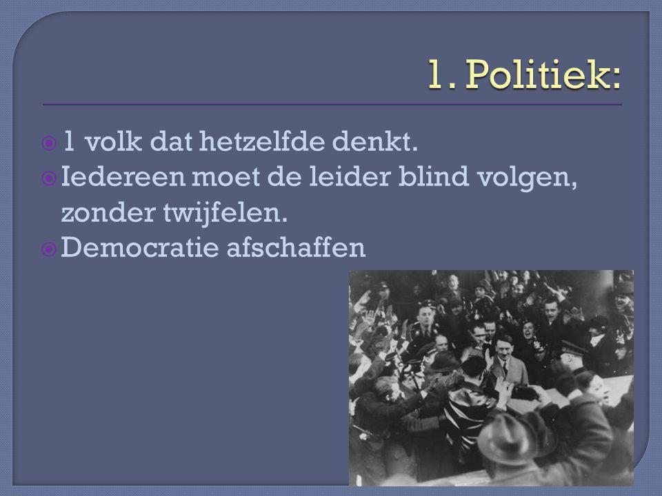  Lebensraum  Alle Duitssprekende mensen in 1 land  Geweld gebruiken om 1 rijk te krijgen  Duitsland moest weer machtig worden.