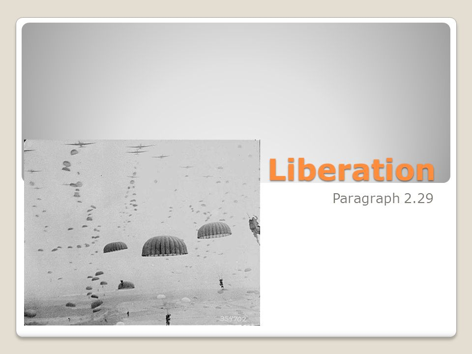 Liberation Paragraph 2.29