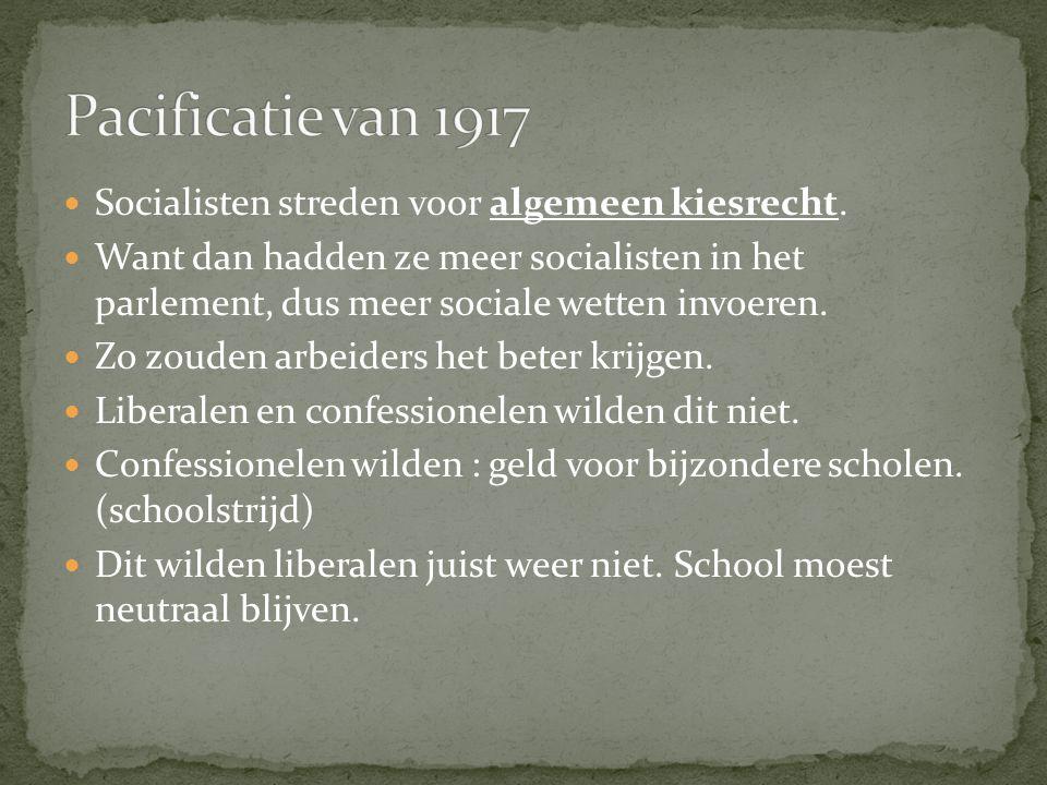 Voor schoolstrijd en algemeen kiesrecht: grondwetswijziging nodig.