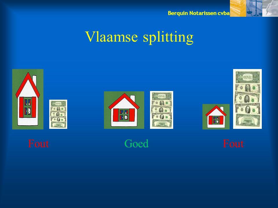 Vlaamse splitting Fout Goed