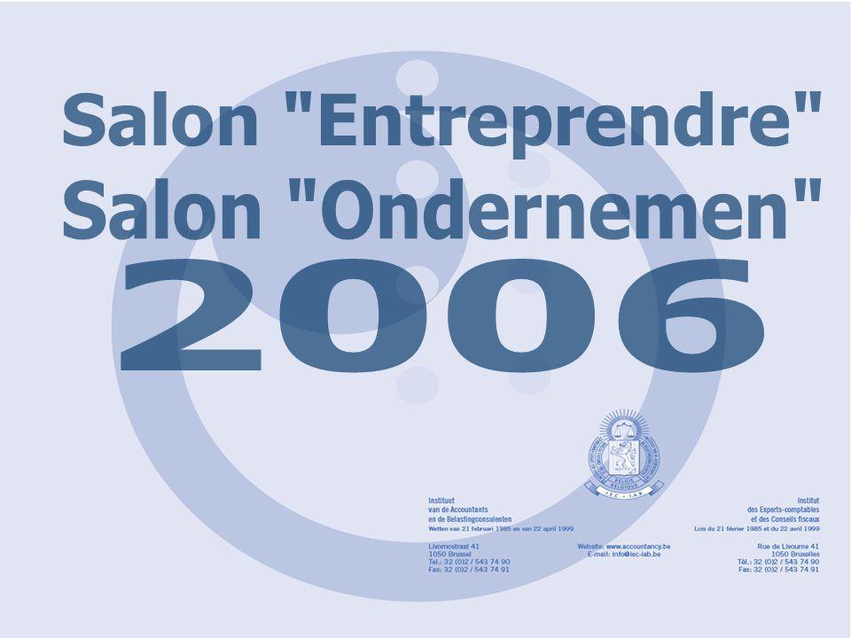 'Entreprendre'2006 'Ondernemen' FINANCIEEL PLAN Isabelle DE LEENHEER, accountant/belastingconsulent Hugo DOOMS, accountant/belastingconsulent Johan DE COSTER, accountant