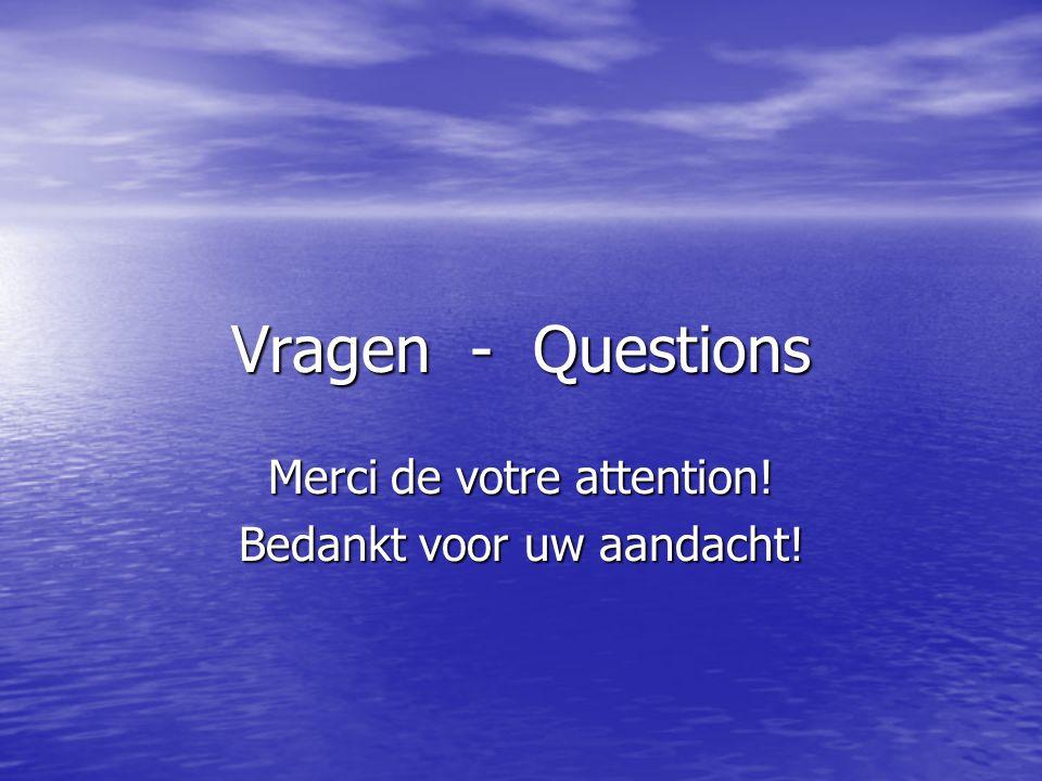 Vragen - Questions Merci de votre attention! Bedankt voor uw aandacht!