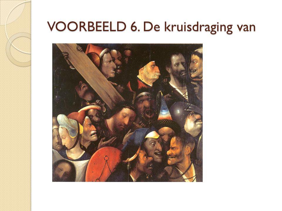 VOORBEELD 6. De kruisdraging van