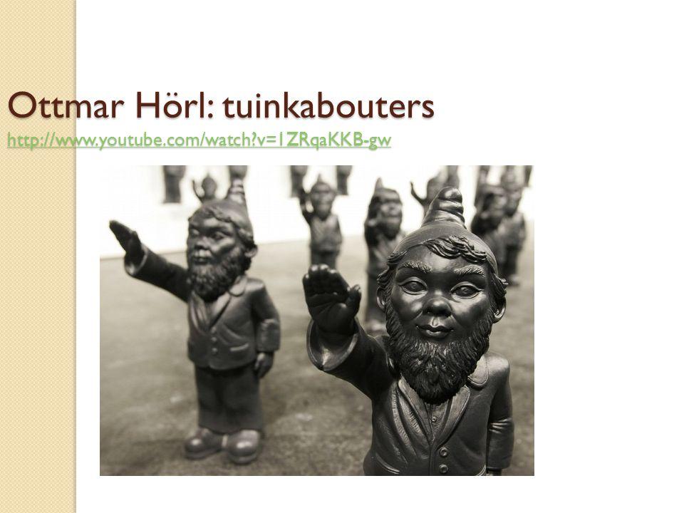 Ottmar Hörl: tuinkabouters http://www.youtube.com/watch?v=1ZRqaKKB-gw http://www.youtube.com/watch?v=1ZRqaKKB-gw