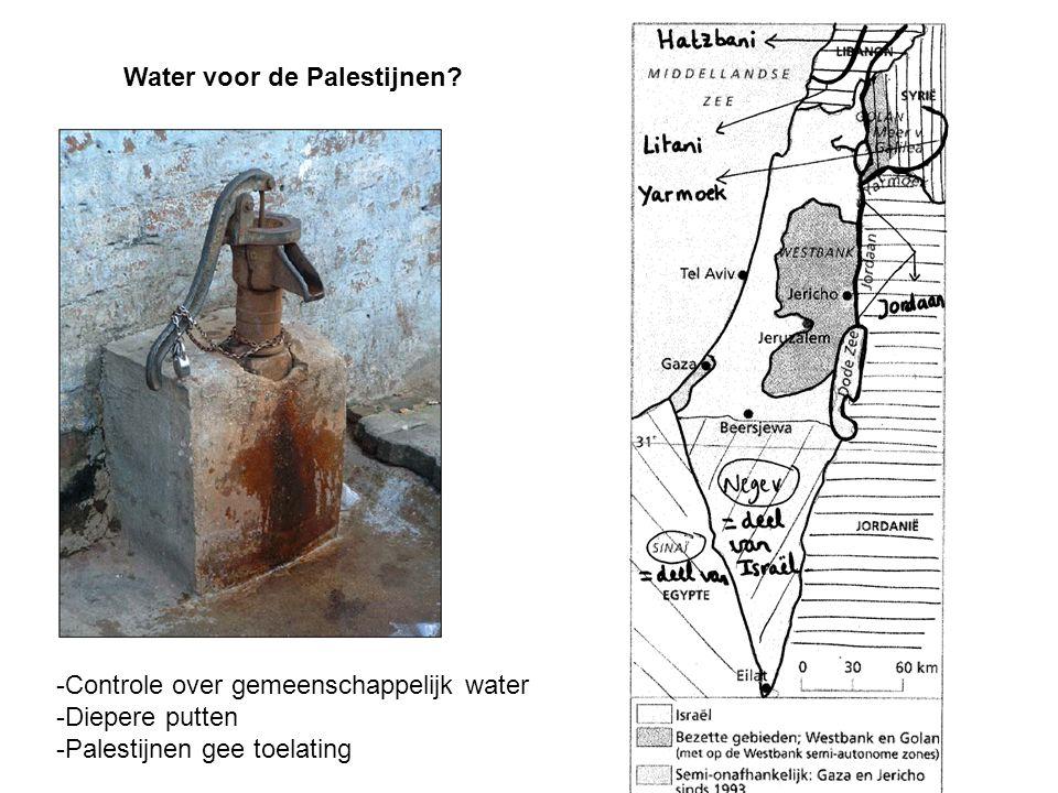 Water voor de Palestijnen.