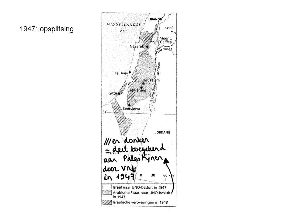 1948: ontstaan Israël en oorlog