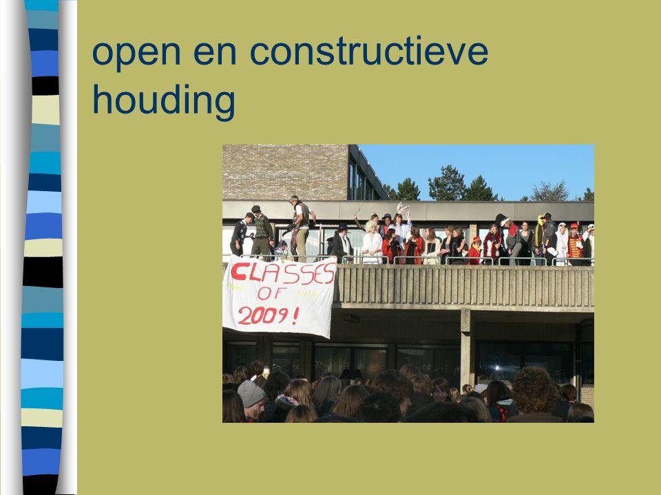 open en constructieve houding