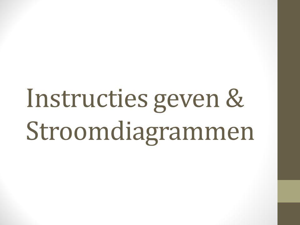 Instructies geven & Stroomdiagrammen