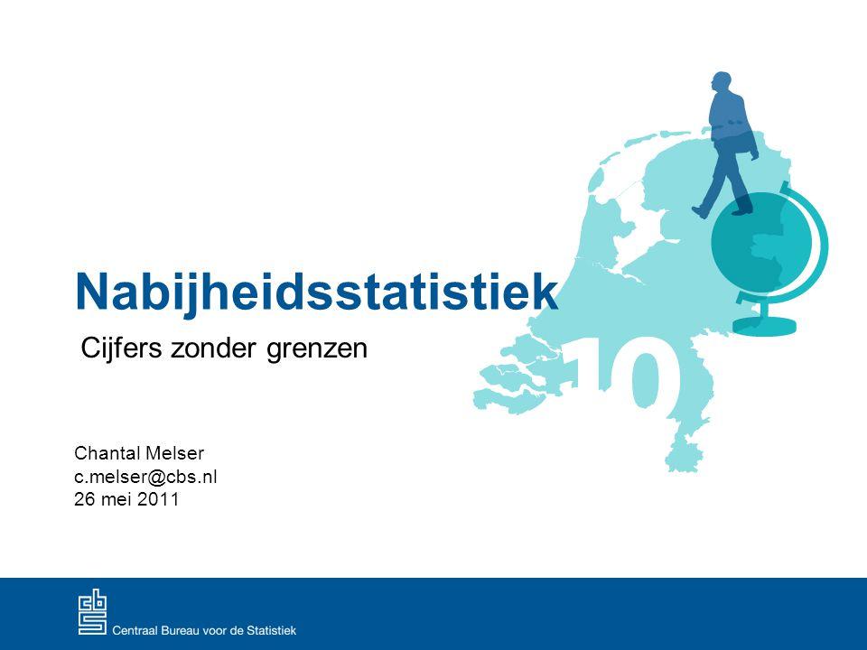 cijfers zonder grenzen, 26 mei 2011 2 Aanleiding nabijheidsstatistiek Verbeteren en uitbreiden regionale en ruimtelijke statistieken: nationaal, regionaal, lokaal en ruimtelijk beleid.