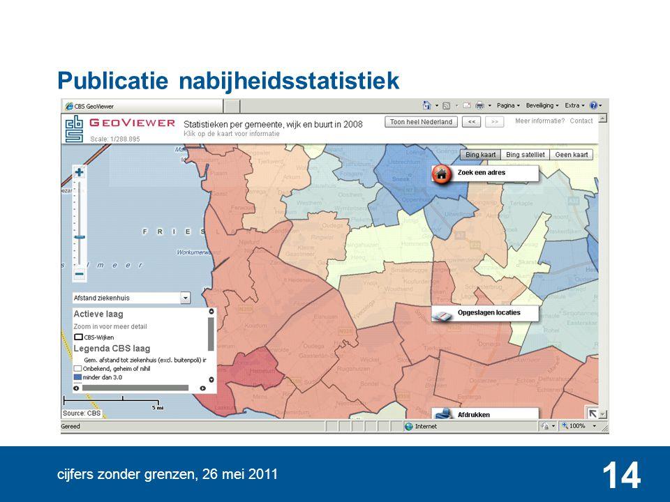 cijfers zonder grenzen, 26 mei 2011 14 Publicatie nabijheidsstatistiek