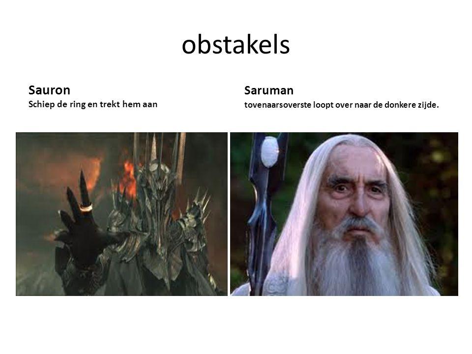 obstakels Sauron Schiep de ring en trekt hem aan Saruman tovenaarsoverste loopt over naar de donkere zijde.