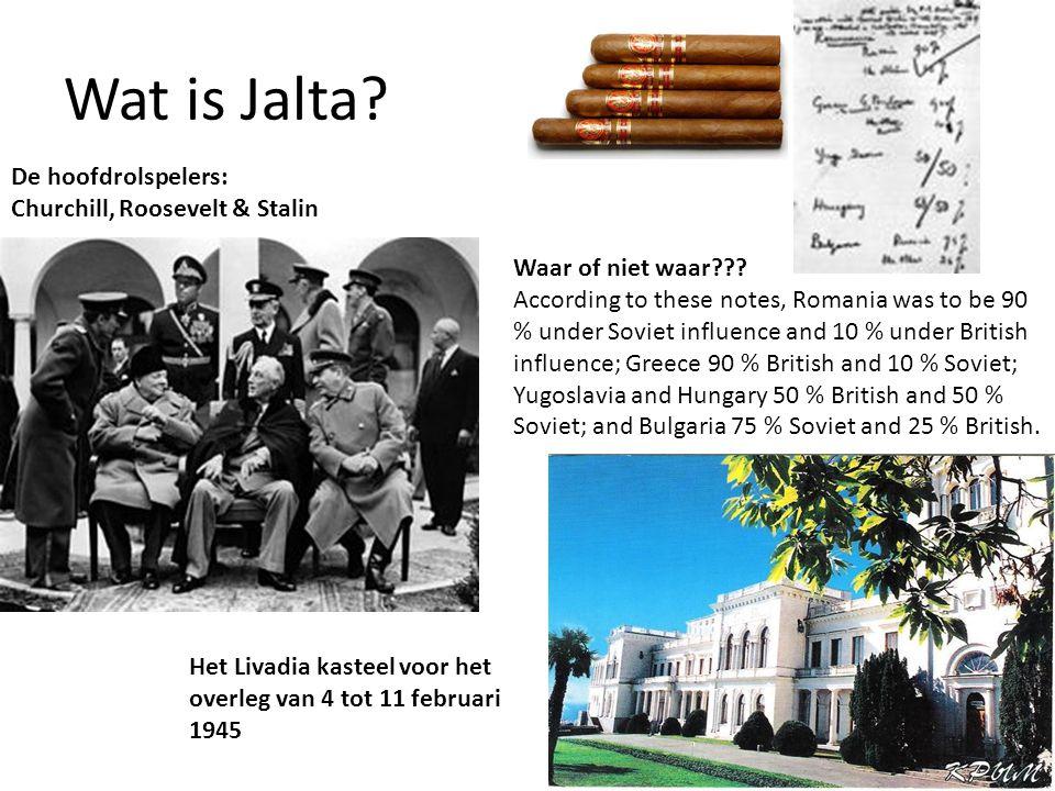 Wat is Jalta.Waar of niet waar??.