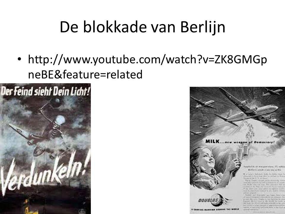 De blokkade van Berlijn - Achtergronden Het westerse eilandje West-Berlijn in Sovjet gebied is Stalin doorn in het oog….