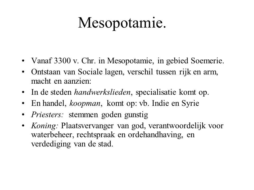 Mesopotamie.Vanaf 3300 v. Chr. in Mesopotamie, in gebied Soemerie.