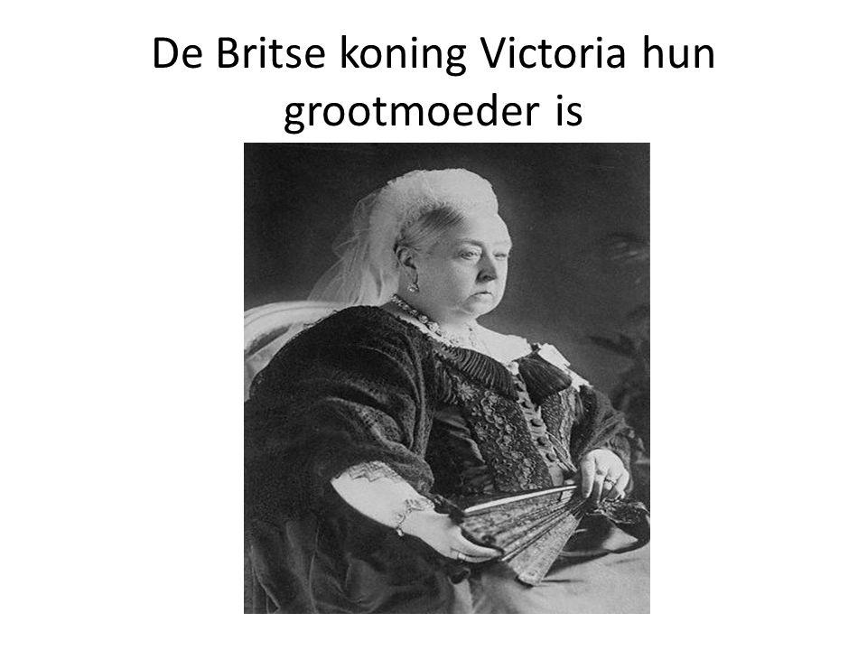 De Britse koning Victoria hun grootmoeder is