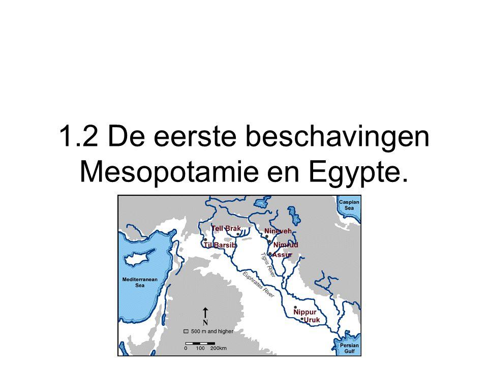 Mesopotamie Mesopotamie: gebied tussen Eufraat en Tigris (Irak)Slib zorgt voor vruchtbare grond.