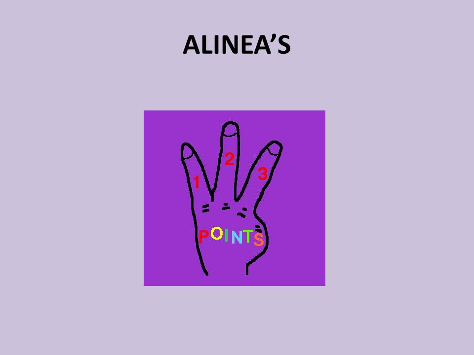 ALINEA'S