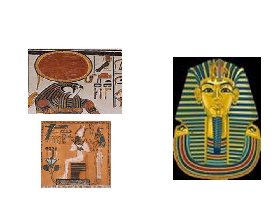 1.3.1 Cultuur en godsdienst Godsdienst is erg belangrijk: Re, Horus, Osiris, Isis.