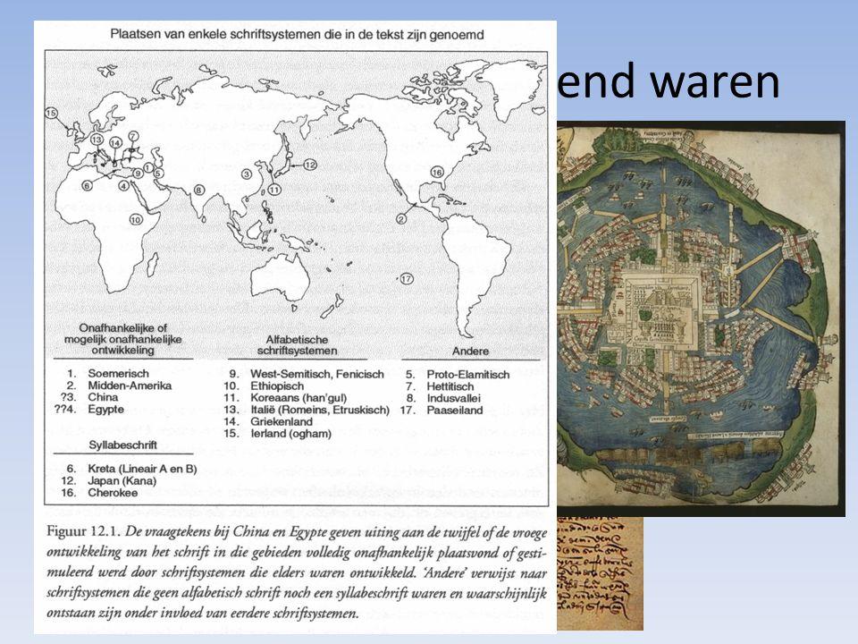 Uitvindingen die bepalend waren Wapens Schrift